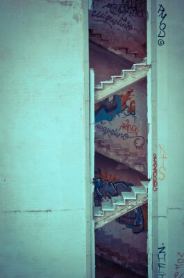 Fototapeta shnilé schody