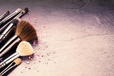 Fototapeta Shromažďování odborných make-up štětce