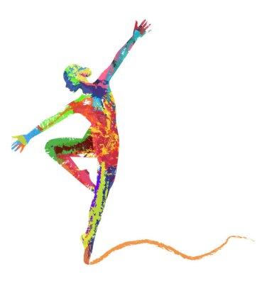 Fototapeta silueta balerína di composta protože Colori