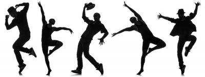 Fototapeta Siluety tanečníků v taneční pojetí