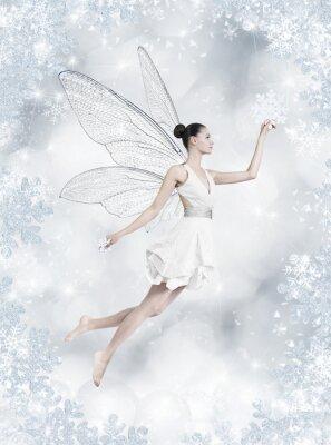 Fototapeta Silver zimní víla