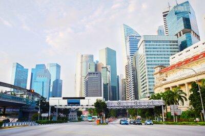 Fototapeta Singapur obchodní čtvrť
