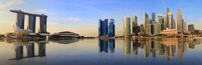 Fototapeta Singapur panorama panorama v dopoledních hodinách