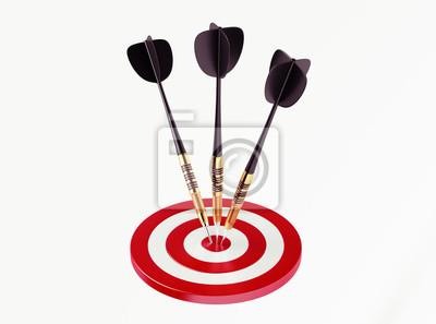Šipky na červenou cíl