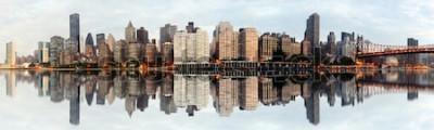 Fototapeta Širokoúhlý panoráma města New York