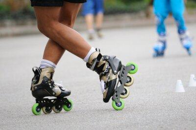 Fototapeta Skater stojící stand by pro školení, sportovní akce.