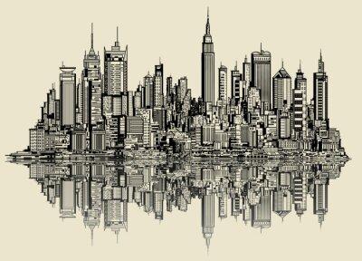 Fototapeta skica v New Yorku