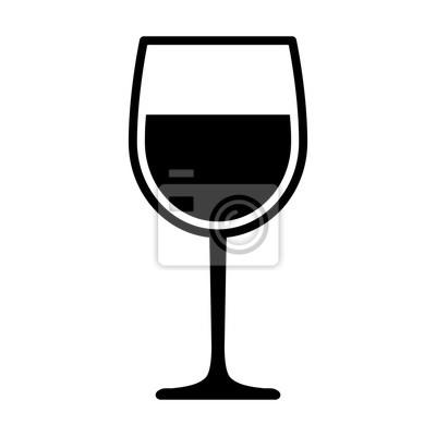 Fototapeta Sklenice na víno s vínem pro ochutnávku ploché vektorové ikony pro aplikace a webové stránky