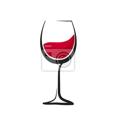 Fototapeta Sklenici červeného vína s stříkající vodou, ruční kreslení, sklenice na víno sklo, vektorové ilustrace vektorové ilustrace