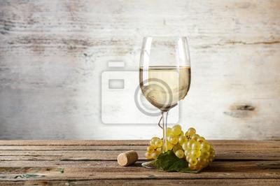 Fototapeta Sklenka bílého vína