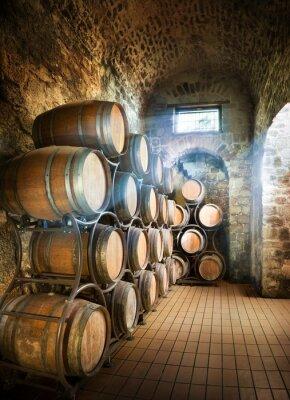 Fototapeta Sklep se sudy pro skladování vína
