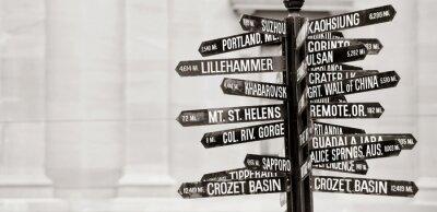 Fototapeta Slavné rozcestník na památkách v Portlandu, Oregon
