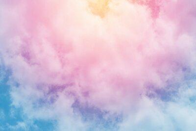 Fototapeta slunce a mraky pozadí pastelové barvy