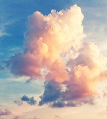 Fototapeta Slunečné oblohy na pozadí v retro stylu vintage