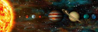 Fototapeta Sluneční soustava, planety v řadě, ultra