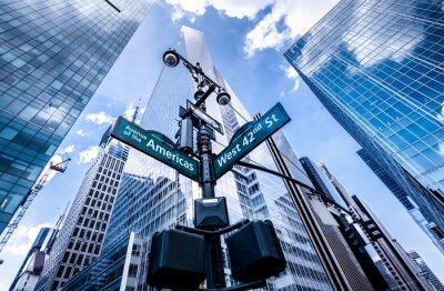 Fototapeta Směrové cedule v New Yorku