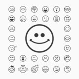 15620b3d67f Smiley tváře ikony