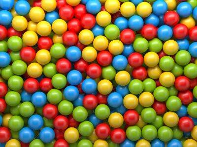 Fototapeta smíšené barevné koule na pozadí