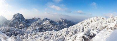 Fototapeta sníh scéna Huangshan kopce v zimě