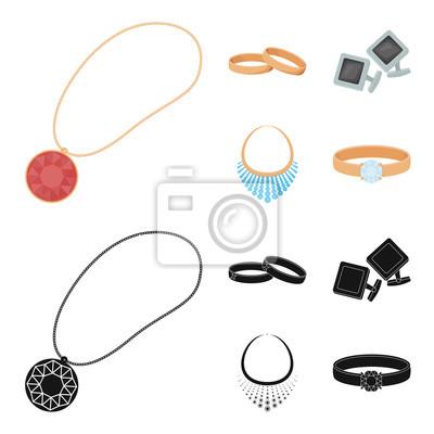 818f98b86 Fototapeta Snubní prsteny, manžetové knoflíčky, diamantový náhrdelník,  prsteny s kamenem. Šperky a
