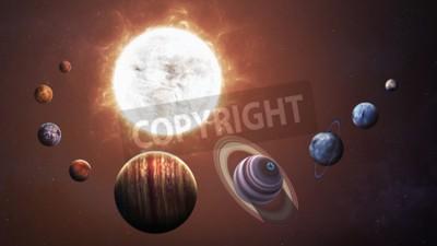 Fototapeta Solární systém a prostorové objekty. Prvky tohoto obrázku zařízený NASA