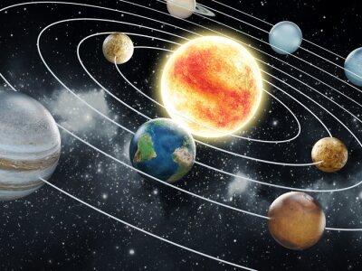 Fototapeta Solární systém ilustrace
