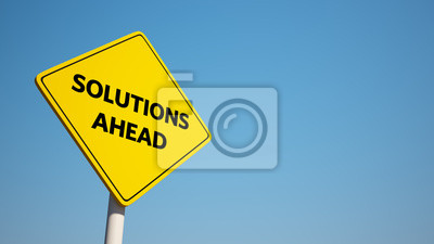 Solutions Sign with Clipping Path