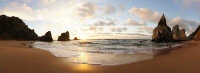 Fototapeta Sonnenuntergang am Strand v Portugalsku
