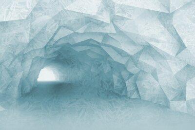 Fototapeta Soustružení světle modrá vnitřek tunelu s křišťálovou úlevou