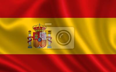 Fototapeta: Španělská vlajka  španělsko vlajka  vlajka španělska  španělsko