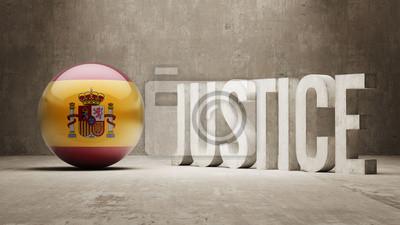 Španělsko. Justice Concept.