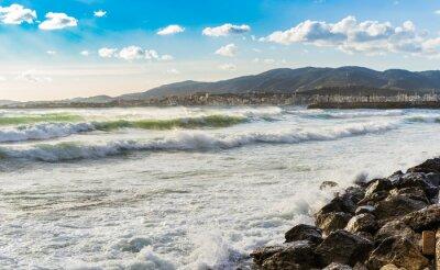 Fototapeta Španělsko Küste Meer Brandung Wellen
