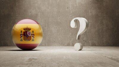 Španělsko. Question Mark Concept.