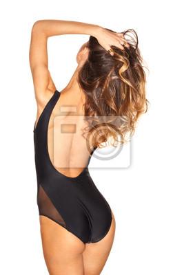 1a9e22bb6d0 Fototapeta spin sexy dívka v černé plavky