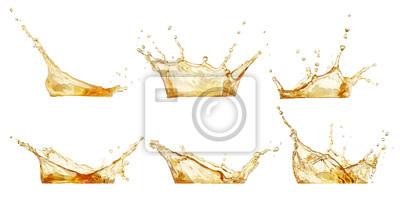 Fototapeta splashes set isolated on white