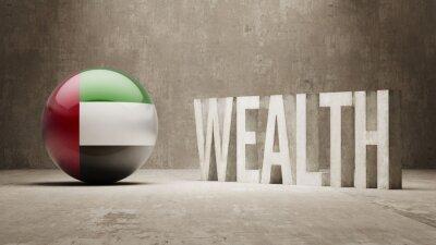Spojené Arabské Emiráty. Bohatství Concept.