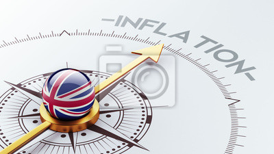 Spojené království Concept inflace.