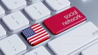 Spojené státy americké Social Network Concept.