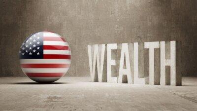 Spojené Státy. Bohatství Concept.