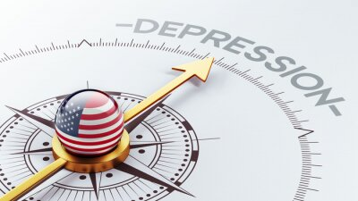 Spojené státy Deprese Concept.