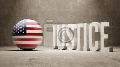 Spojené Státy. Justice Concept.