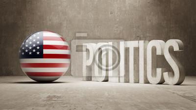 Spojené Státy. Politika Concept.