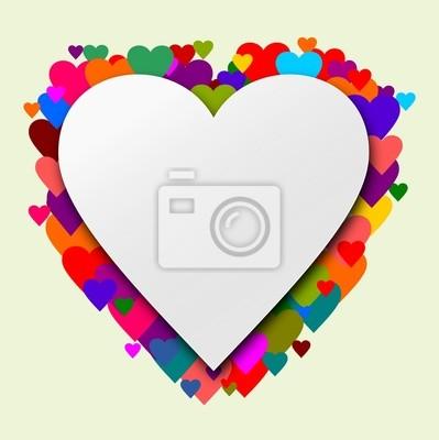 Fototapeta Srdce se srdcem jako pozadí