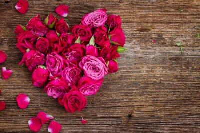 Fototapeta Srdce z růží