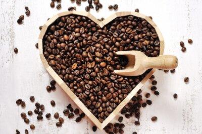 Fototapeta Srdcem kávových zrn