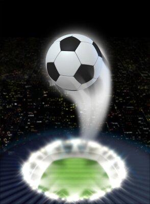 Fototapeta Stadium Noc s míčem vlnovka