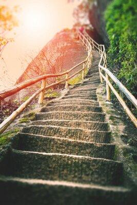 Fototapeta Stairs on the mountain