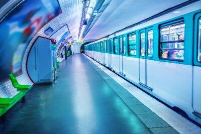 Fototapeta Stanice metra v Paříži