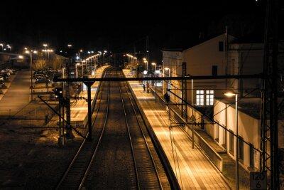 Fototapeta Stanice v noci
