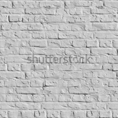 Fototapeta Stará bílá cihlová zeď. Bezešvé Dlaždicovatelné textury.